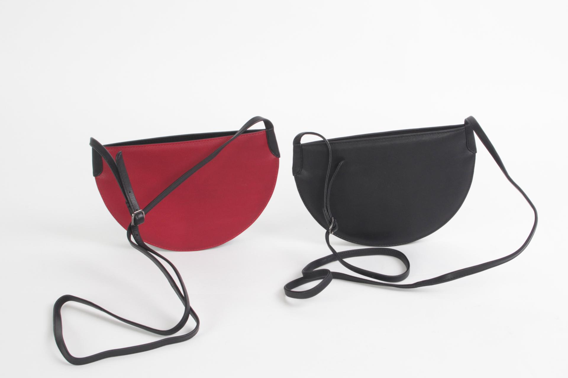 promotiecode beste goedkoop fabrieksuitgang Exclusieve leren tassen Leren tasje Peru rood, zwart