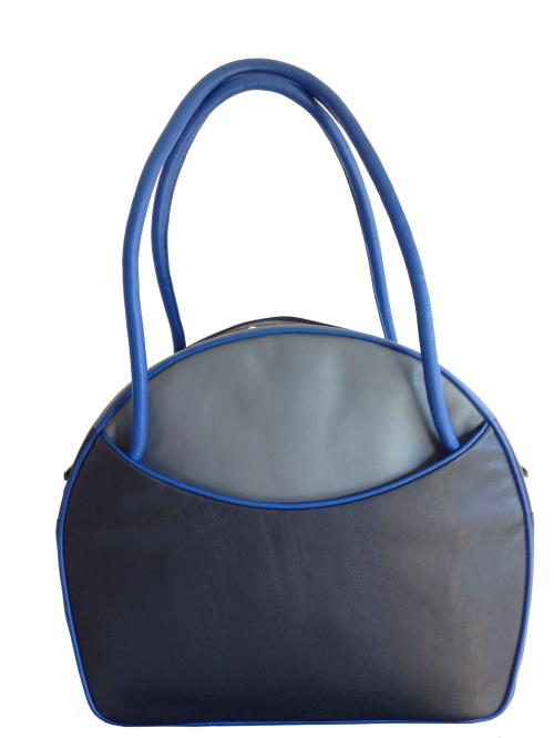 ca8e3802af0 Exclusieve leren tassen Russia XL donkergrijs, blauw, grijs