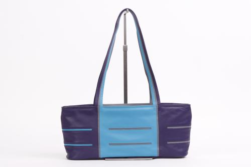 245e796454d Exclusieve leren tassen Helsinki Long paars, turquoise, grijs